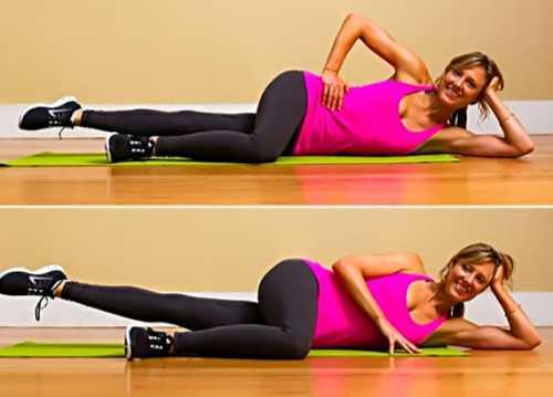 быстро убрать ушки на ногах и между ног упражнениями